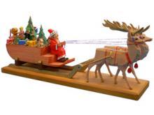 Santa Claus with big sled