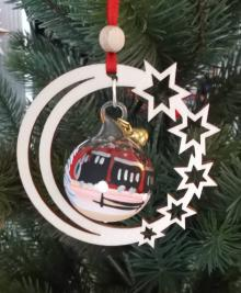 Tree decoration train in the star moon