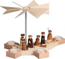 Tealight pyramid Octogonum, Christ Birth