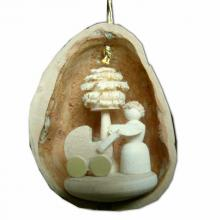 Tree Ornaments Mother Happiness in Walnut Shell