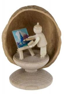 Miniature Painter in Walnut Shell
