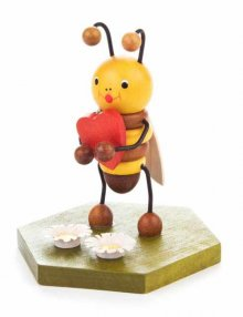 Collectible Figure Bee with Heart
