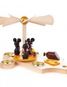 Pyramid Mouse Kids on Breakfast Board