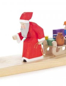Candleholder Santa Claus with Sledge