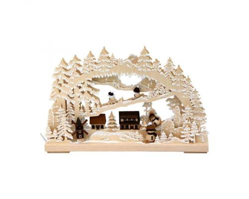 3D Light Arch Wintry Village, small