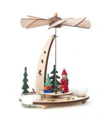 Tealight Pyramid Santa Claus