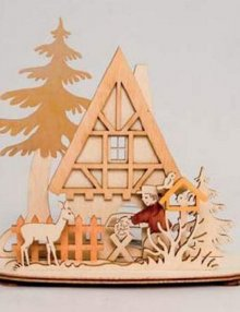 Tealight Holder Forest House