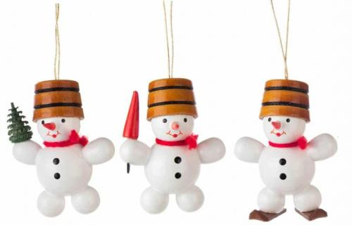 Tree decoration snowman trio, set III