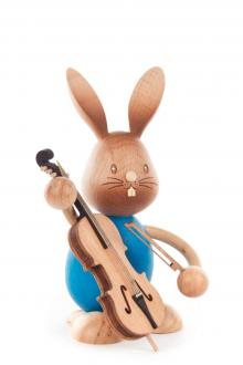 Easter bunny Stupsi with bass