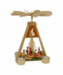 Easter bunny tealight pyramid