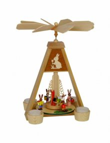 Easter bunny tealight pyramid