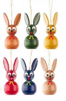 Hanging Easter bunnies pickled