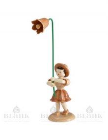 Flower child with bellflower, natural