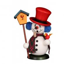 Smoker snowman with birdhouse