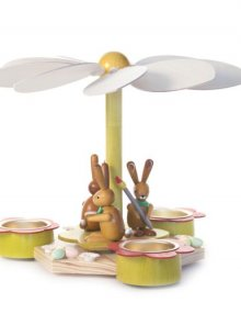 Easter pyramid with rabbits