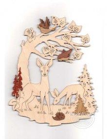 Window picture deer