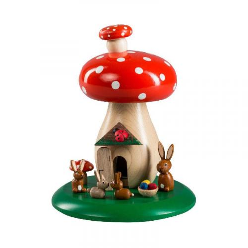 Incense toadstool with rabbits
