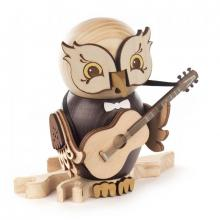 Incense figure owl with guitar