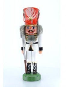Nussknacker Soldat weiß, 26cm