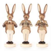 Rabbit Trio nature with an accordion, flute and trumpet
