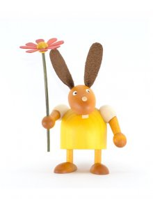 Rabbit with flower, about 7cm