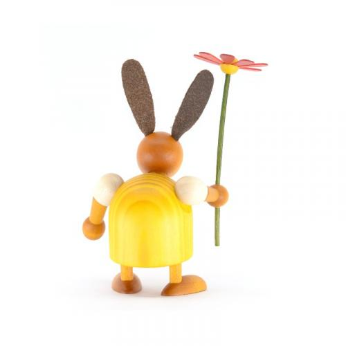 Rabbit with flower, about 7cm, back