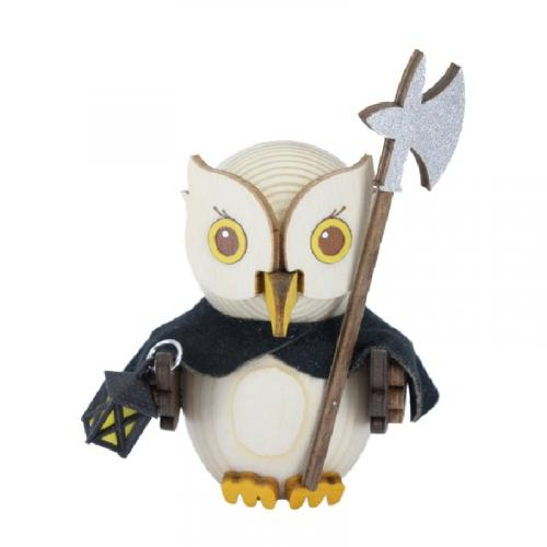 Wooden figure mini owl night watchman