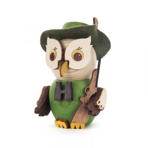 Wooden miniature owl huntsman