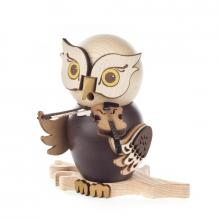 Incense figure owl with violin