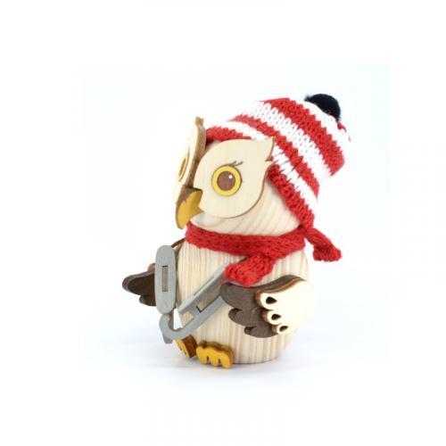 Wooden figure mini owl skater