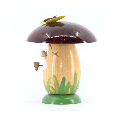 Incense figure smoke mushroom, ruby red
