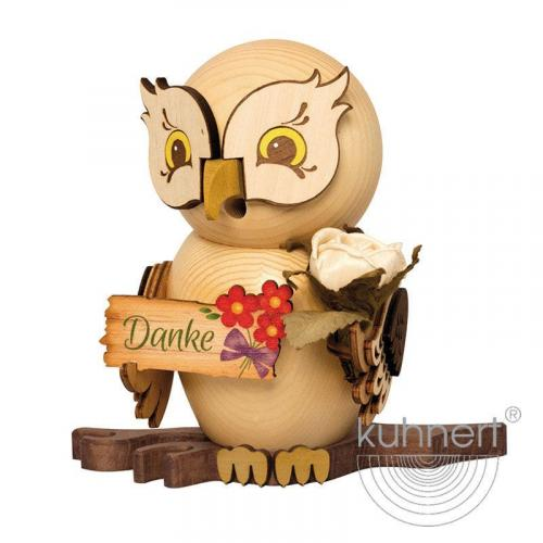 Incense figure owl with thank you sign