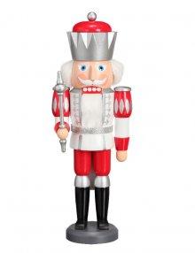 Nutcracker King white-silver-red, 40 cm