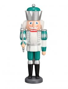 Nutcracker King white-silver-mint-turquoise