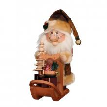 Smoker Gnome Santa Claus with sleigh