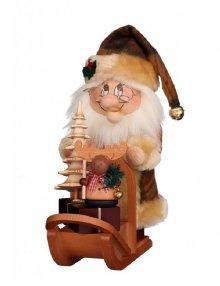 Smoker Gnome Santa Claus with sleigh