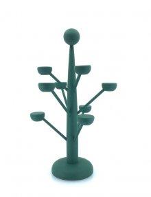 Dekobaum für Miniaturen aus der Walnussschale grün