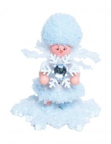 Snowflake with snow crystal