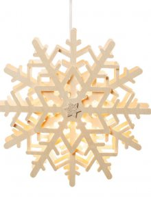 Snow crystal window picture, electric