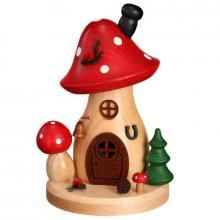 Curved incense figure mushroom house toadstool