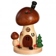 Incense figure mushroom house brown cap round
