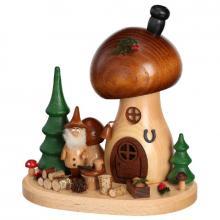 Incense figurine mushroom house mushroom picker
