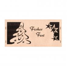 Christmas Greetings card with Fir Tree, Merry Christmas