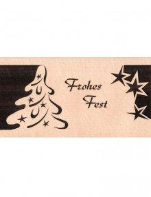 Christmas Greetings card with Fir Tree, Merry Christmas