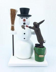 smoker snowman and rabbit