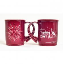 Moravian Christmas mug with a Herrnhut city silhouette
