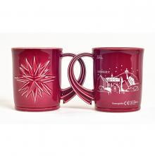 Moravian Christmas mug with a Herrnhut city silhouette