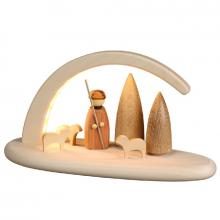 Shepherd LED candlestick, natural