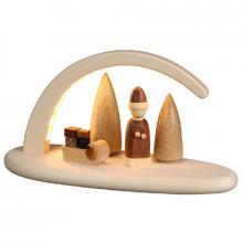 LED candle arch Christmas motif, natural
