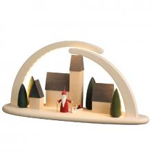 LED double arch city Christmas gnome, big